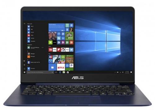 """Ноутбук Asus UX430UA-GV275T i7-8550U (1.8)/16G/512G SSD/14"""" FHD AG IPS/Int:Intel UHD 620/BT/FPR/Win10 Blue, Metal + чехол 90NB0EC5-M12720"""