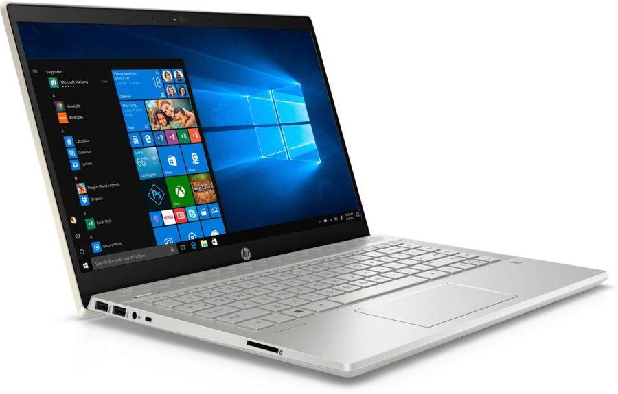 "Ноутбук HP Pavilion 14-ce0025ur <4HF32EA> i5-8250U (1.6)/8Gb/1TB+128Gb SSD/14.0""FHD IPS AG/NV GT MX150 2GB/FPR/Cam HD/Win10 (Pale gold) 4HF32EA"