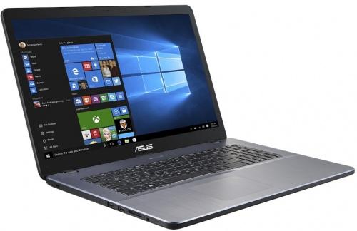 Ноутбук Asus X705UA-GC822T Core i7 8550U (1.8) / 8Gb / 1Tb / 17.3 FHD IPS / UHD Graphics 620 / Win 10 Home / Gray ноутбук lenovo thinkpad e580 i7 8550u 8gb 1tb 620 15 6 ips fhd w10pro black