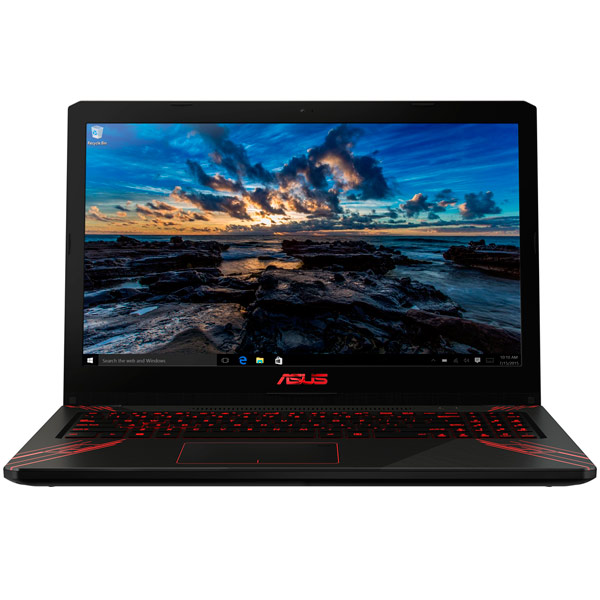 Ноутбук Asus FX570UD-DM176T Core i7 8550U (1.8) / 8Gb / 1Tb+128Gb SSD / 15.6 FHD TN / GeForce GTX 1050 2Gb / Win 10 Home / Black моноблок asus v241icuk ba134d 24 fullhd core i5 8250u 8gb 1tb 128gb ssd kb m dos black