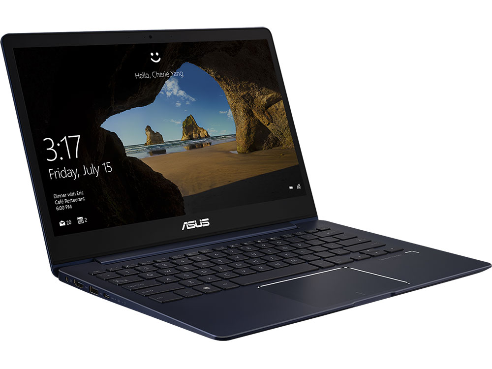 Ноутбук ASUS ZenBook 13 UX331FAL-EG002T Core i3 8145U (2.1) / 8Gb / 256Gb SSD / 13.3 FHD IPS / UHD Graphics 620 / Win 10 Pro / Deep Dive Blue ноутбук asus zenbook ux305ua fb004t 90nb0ab1 m02330