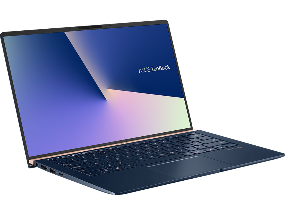 Ноутбук ASUS ZenBook 14 UX433FA-A5118T Core i3 8145U (2.1) / 8Gb / 256Gb SSD / 14 FHD IPS AG / UHD Graphics 620 / Win 10 Home / Blue metallic ноутбук asus zenbook ux305ua fb004t 90nb0ab1 m02330