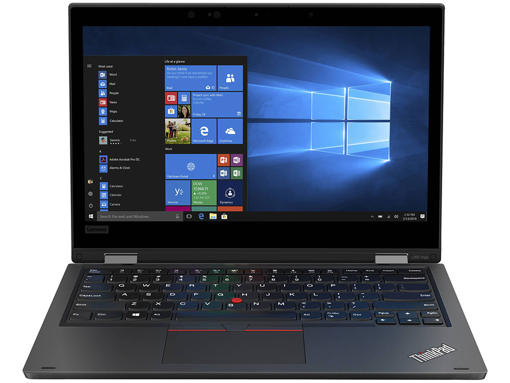 Ноутбук Lenovo ThinkPad L390 Yoga (20NT0013RT) Core i5 8265U (1.6) / 8Gb / 256Gb SSD / 13.3 FHD IPS Touch / UHD Graphics 620 / Win 10 Pro / Black ноутбук lenovo thinkpad e580 i7 8550u 8gb 1tb 620 15 6 ips fhd w10pro black