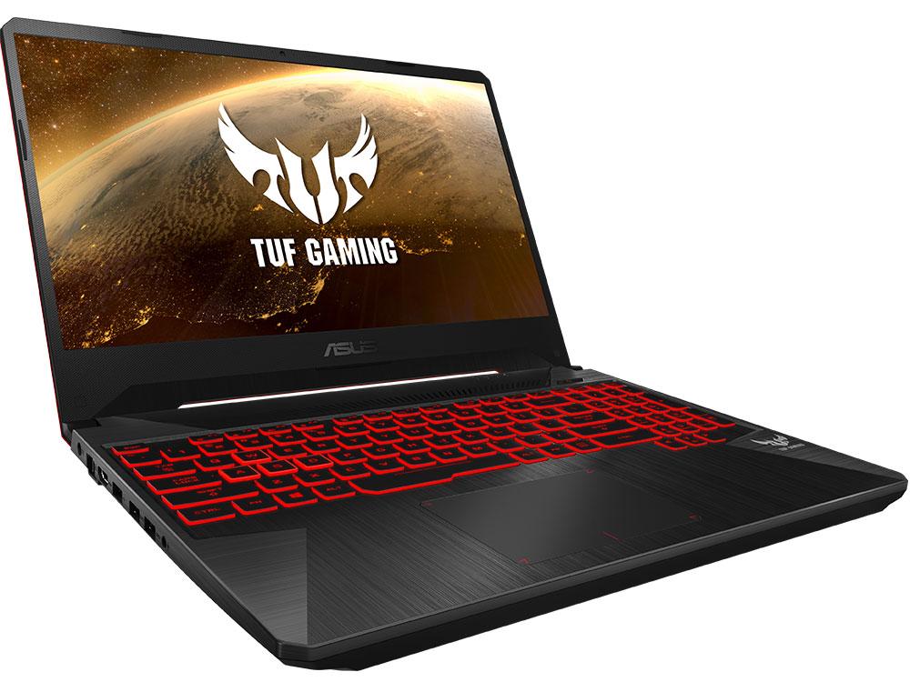 Ноутбук ASUS TUF Gaming FX505DY-BQ009T Ryzen 5 3550H (2.1) / 8Gb / 256Gb SSD / 15.6 FHD IPS / Radeon RX 560X 4Gb / Win 10 Home / Black-Red Matter ноутбук 15 6 fhd asus rog fx505dy bq068t metal amd ryzen 5 3550h 6gb 1tb rx560x 4gb w10 90nr01a2 m02650