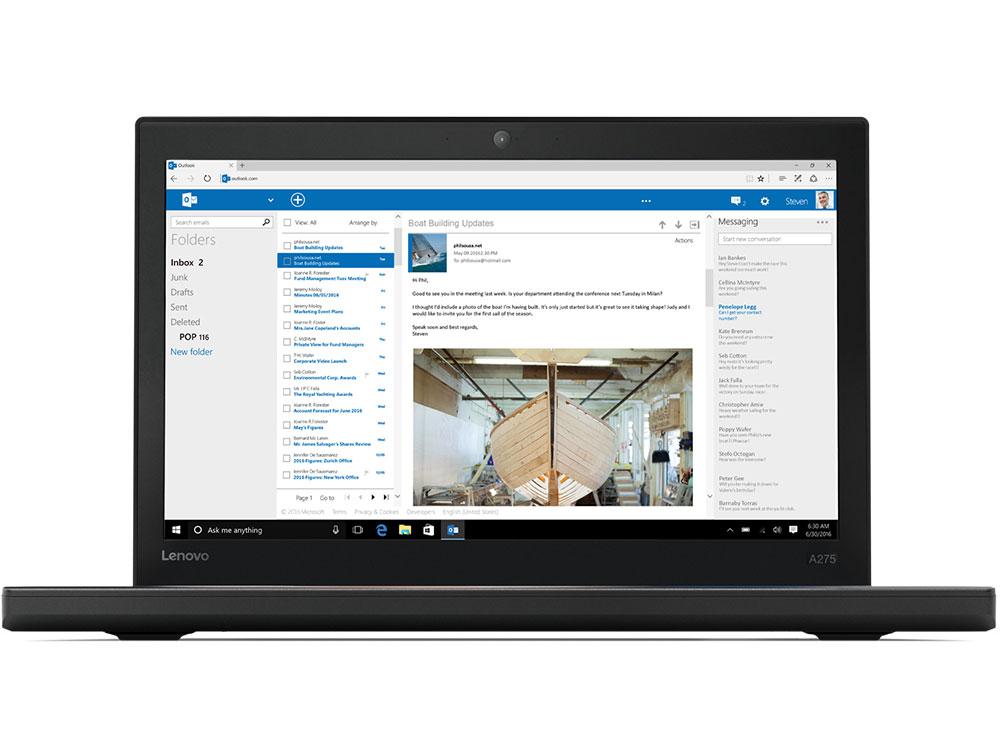 Ноутбук Lenovo ThinkPad A275 (20KCS04V00) A12-9800B (2.7) / 8Gb / 256Gb SSD / 12.5 FHD IPS / Radeon R7 / Win 10 Pro / Black ноутбук lenovo thinkpad t490 core i5 8265u 8gb 256gb ssd 14 0 fullhd win10pro black