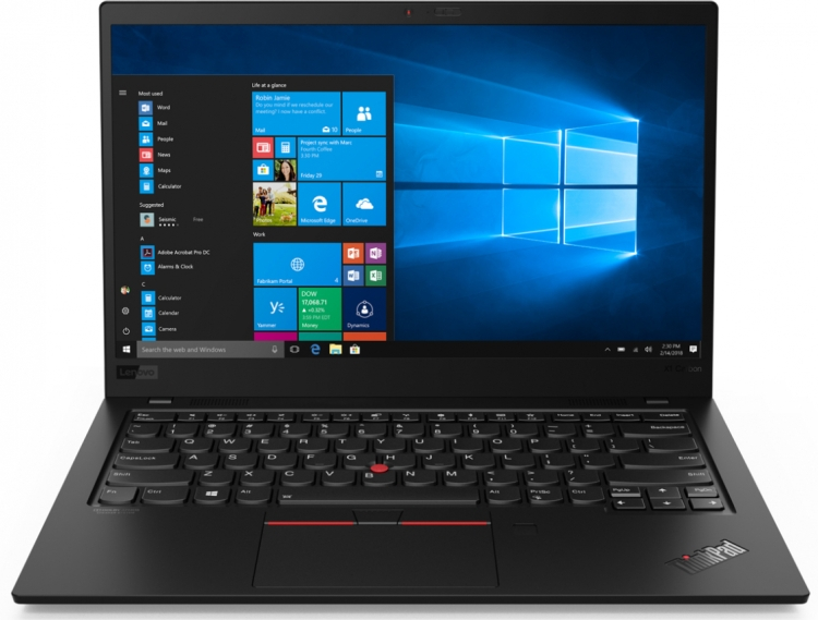 цена на Ноутбук Lenovo ThinkPad X1 Carbon 7 (20QD003HRT) Core i5 8265U (1.6) / 8Gb / 256Gb SSD / 14