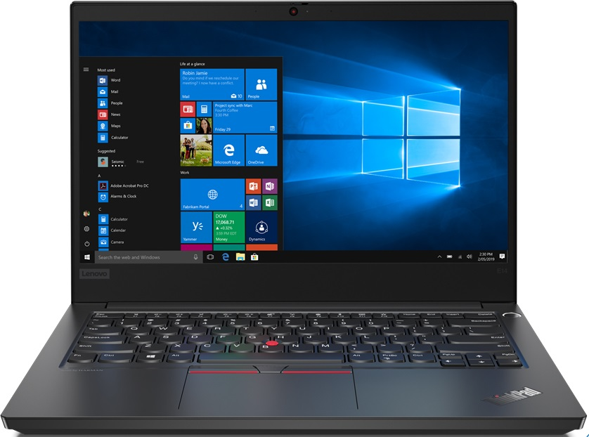 цена на Ноутбук Lenovo ThinkPad E14 (20RA002QRT) Core i3 10110U (2.1) / 8Gb / 256Gb SSD / 14