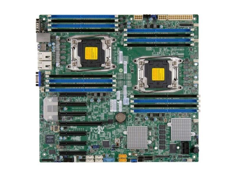 Мат плата Supermicro MBD-X10DRH-I-O 2 х Socket 2011-3 C612 16хDDR3 1xPCI-E 16x — 10xSATAIII цена и фото