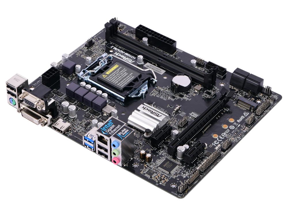 цена на Материнская плата ASRock H310M-HDV/M.2 (S1151, iH310, 2*DDR4, 1*PCI-E16x, 2*PCI-E1x, D-Sub, DVI, HDMI, SATA III, M.2, GB Lan, USB3.0, mATX, Retail)