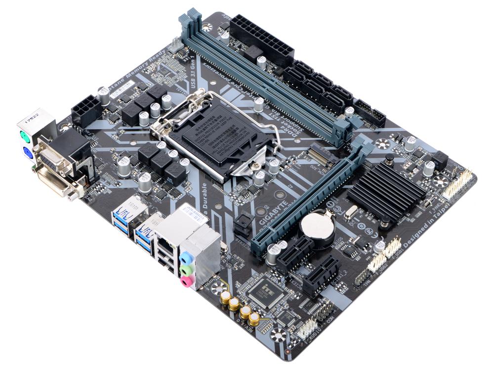 Материнская плата GIGABYTE B360M D2V (S1151, B360, 2*DDR4, 1*PCI-E16x, 2*PCI-E1x, D-Sub, DVI, SATA III, M.2, GB Lan, USB 3.1, mATX, Retail) материнская плата gigabyte b360m ds3h b360 socket 1151v2 4xddr4 6xsata3 1xm 2 1xpci e16x 4xusb3 1 d sub dvi d hdmi glan matx