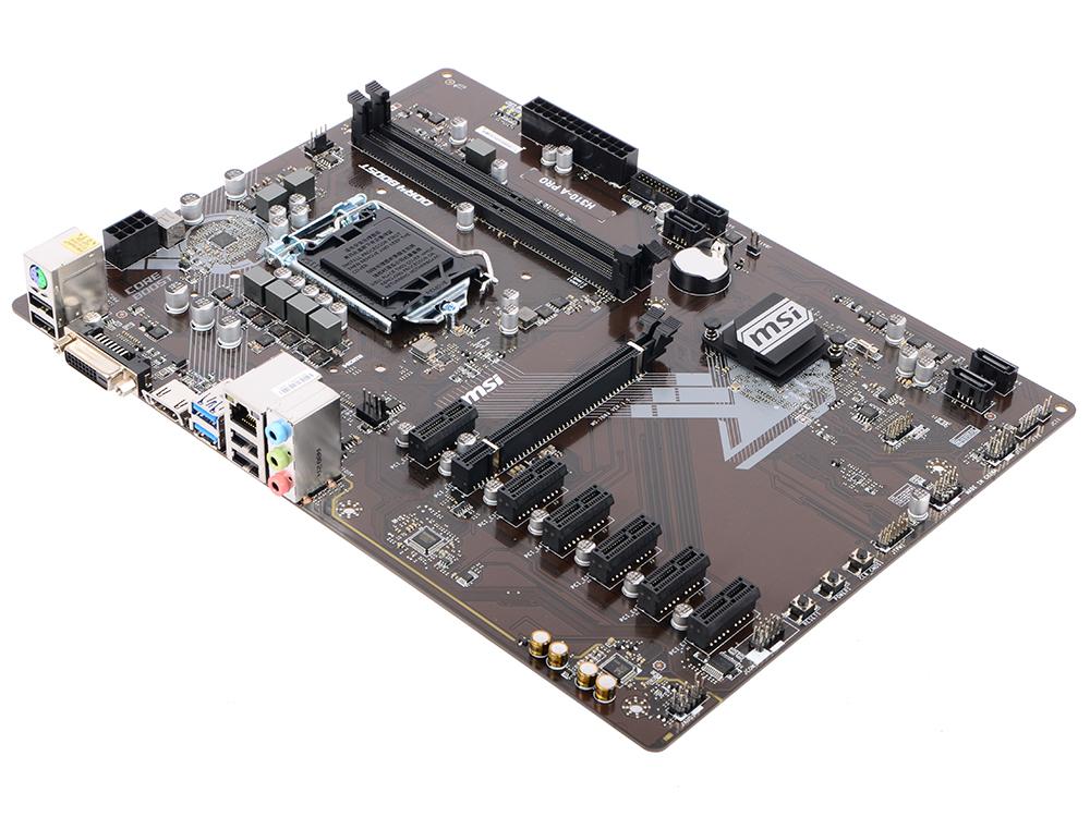 Материнская плата MSI H310-A PRO (S1151, B360, 2*DDR4, 1*PCI-E16x, 6*PCI-E1x, DVI, HDMI, SATA III, GB Lan, USB3.1, ATX, Retail) цена 2017
