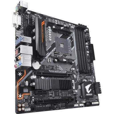 Материнская плата GIGABYTE B450 AORUS M AM4, AMD B450, 4xDDR4, 2xPCI-Ex16, PCI-Ex1, DVI, HDMI, SATA III+RAID, GB Lan, M.2, USB 3.1, ATX, Retail цена в Москве и Питере