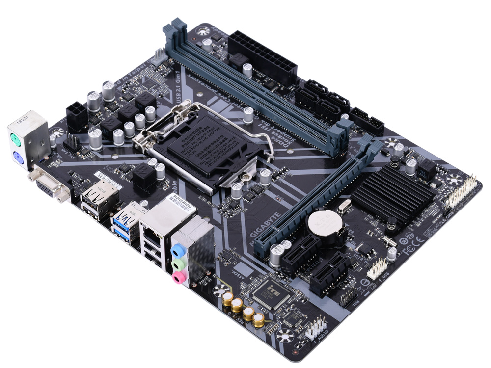 Материнская плата GIGABYTE H310M S2 2.0 (S1151v2, H310, 2xDDR4, PCI-Ex16, 2xPCI-Ex1, D-Sub, SATA III, GB Lan, USB3.1, mATX, Retail) жесткий диск 3 5 2 tb 5700rpm 64mb cache toshiba video streaming v300 sata iii 6 gb s hdwu120uzsva