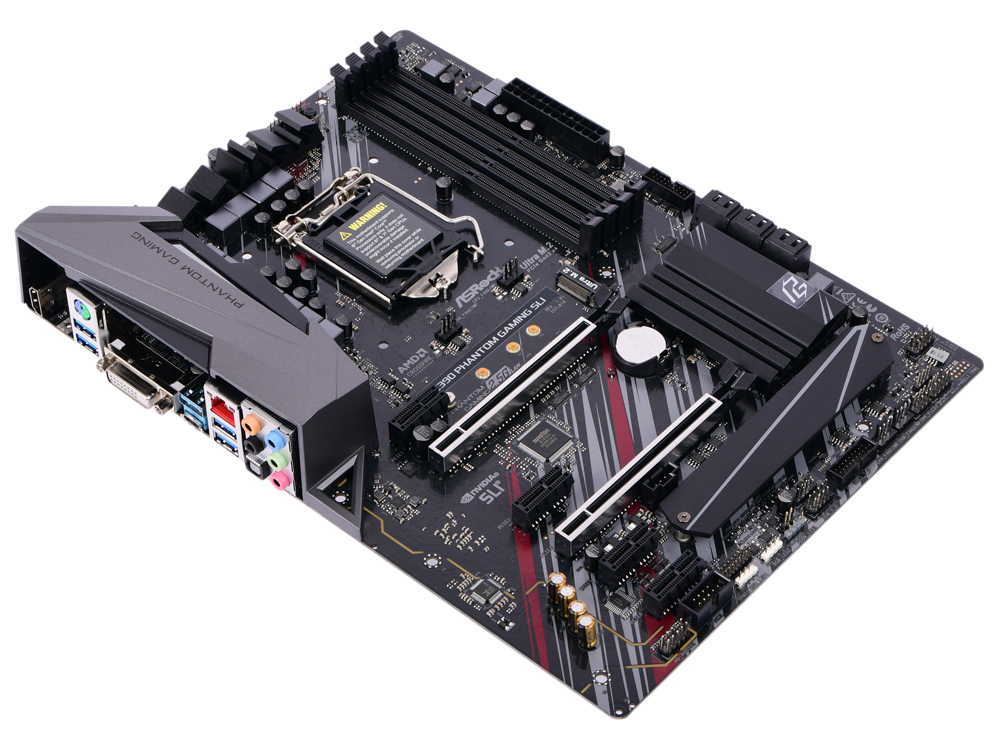 Материнская плата ASRock Z390 PHANTOM GAMING SLI S1151, Z390, 4xDDR4, 2xPCI-Ex16, 4xPCI-Ex1, DVI, HDMI, SATA III+RAID, M.2, GB Lan, USB3.1, ATX, Retail asrock z390 phantom gaming 6
