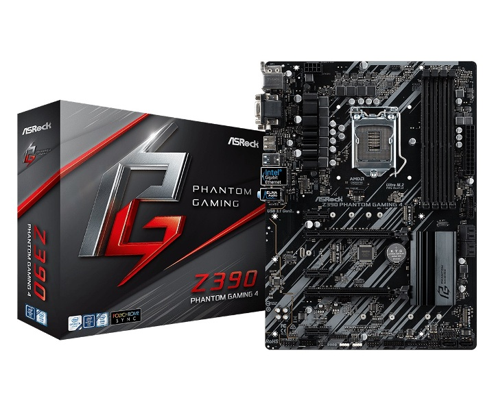 цена на Материнская плата ASRock Z390 PHANTOM GAMING 4 S1151v2, Z390, 4xDDR4, 2xPCI-Ex16, 3xPCI-Ex1, D-Sub, DVI, HDMI, SATAIII+RAID, M.2, GB Lan, USB3.1, ATX, Retai