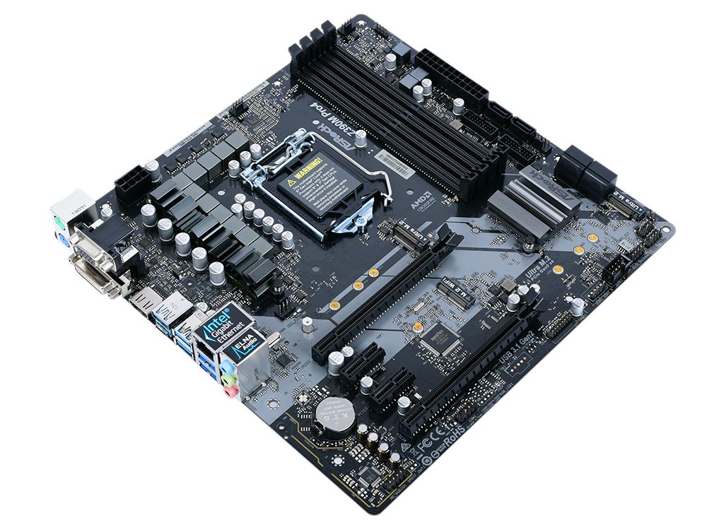 цена на Материнская плата ASRock Z390M PRO4 (S1151v2, Z390, 4xDDR4, 2xPCI-Ex16, 2xPCI-Ex1, D-Sub, DVI, HDMI, SATAIII+RAID, M.2, GB Lan, USB3.1, mATX, Retail)