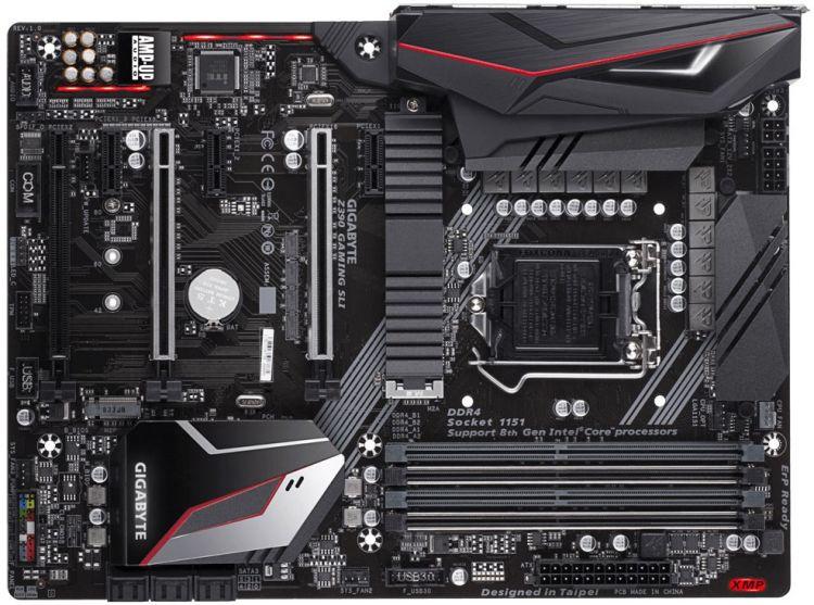 Материнская плата GIGABYTE Z390 GAMING SLI S1151v2, Z390, 4xDDR4, 3xPCI-Ex16, 3xPCI-Ex1, HDMI, SATA III+RAID, M.2, GB Lan, USB 3.1, ATX, Retail asus strix z270h gaming z270 socket 1151 4xddr4 6xsata3 raid 2xm 2 3xpci e16x 4xusb3 0 2xusb3 1 dvi hdmi glan atx