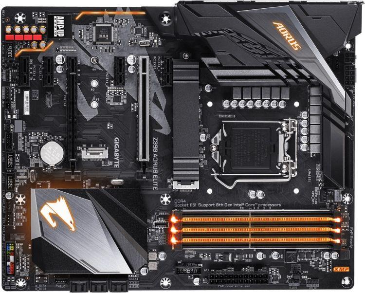 Материнская плата GIGABYTE Z390 AORUS ELITE S1151v2, Z390, 4xDDR4, 2xPCI-Ex16, 4xPCI-Ex1, HDMI, SATA III+RAID, M.2, GB Lan, USB3.1, ATX, Retail