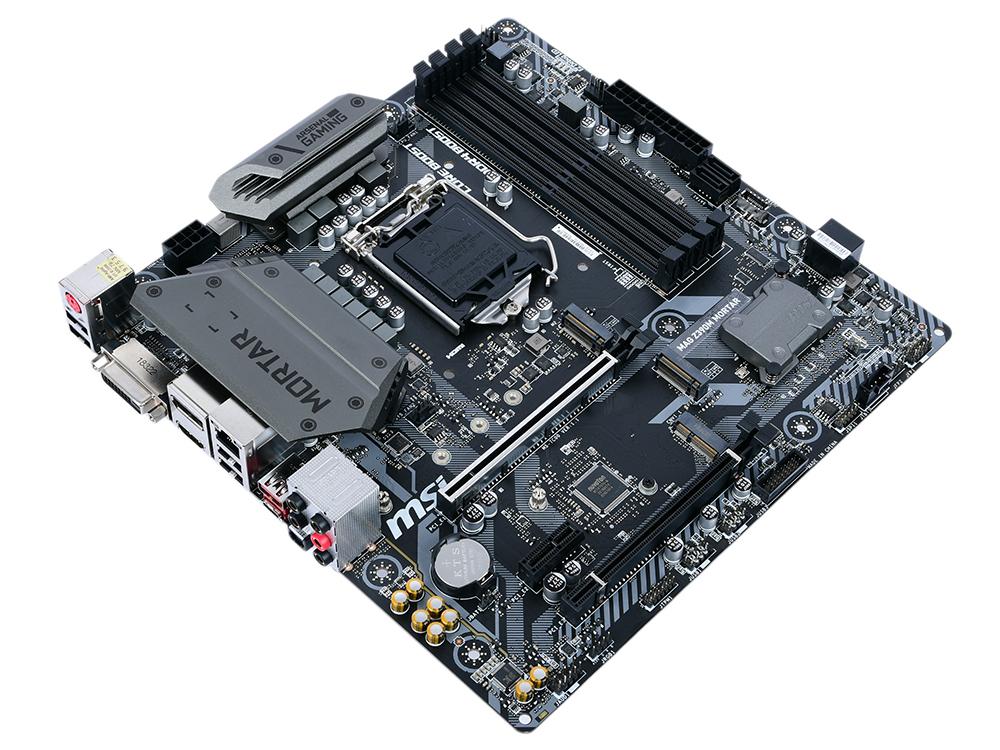 купить Материнская плата MSI MAG Z390M MORTAR (S1151v2, Z390, 4xDDR4, 2xPCI-Ex16, PCI-Ex1, DVI, DP, HDMI, SATA III+RAID, M.2, GB Lan, USB3.1, mATX, Retail) дешево