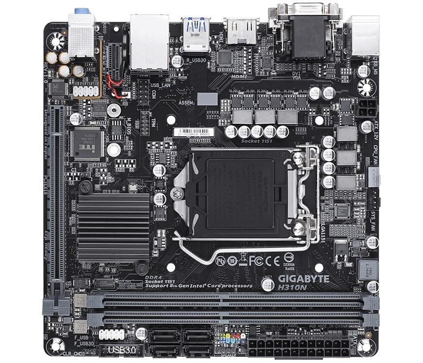 Материнская плата Gigabyte H310N (Socket 1151, Intel H310, DDR4, Mini-ITX)