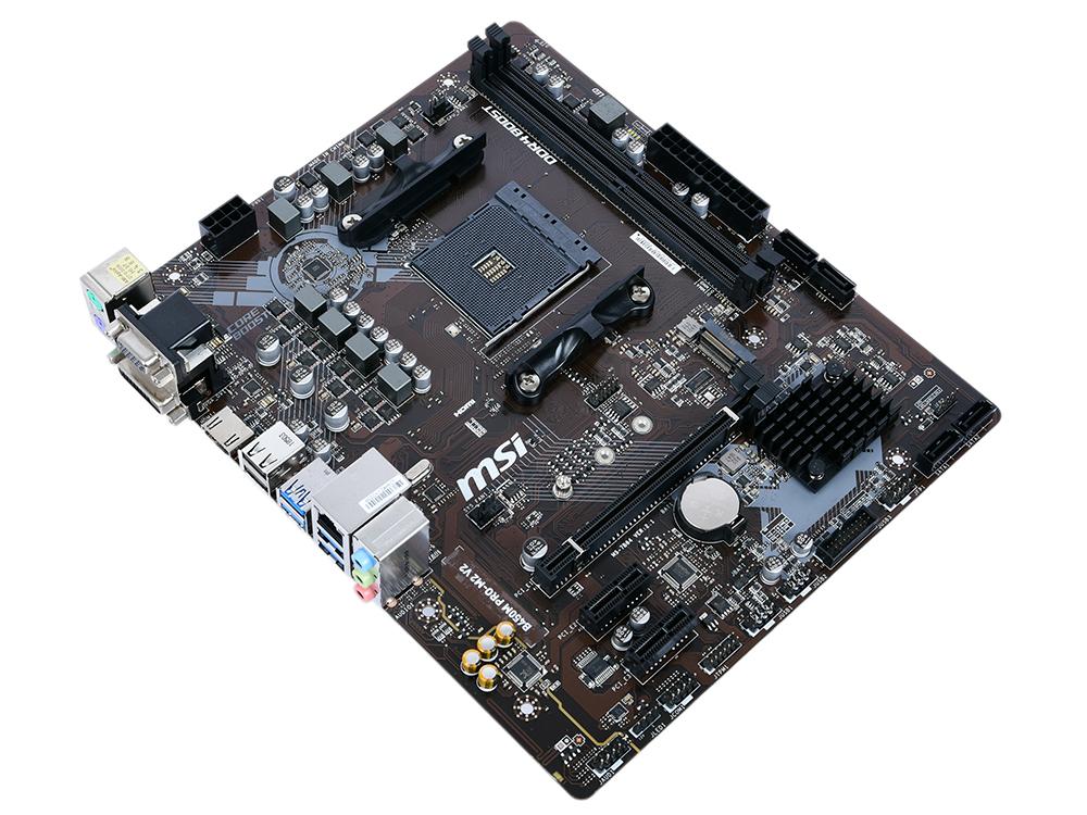 Материнская плата MSI B450M PRO-M2 V2 AM4, AMD B450, 2xDDR4, PCI-Ex16, 2xPCI-Ex1, DVI, D-Sub, HDMI, SATAIII+RAID, M.2, GBLan, USB 3.1, mATX, Retail asus h110i plus socket 1151 h110 2xddr4 1xpci e16x 4xsata3 d sub dvi hdmi 4xusb3 0 com d sub dvi hdmi glan mini itx ret