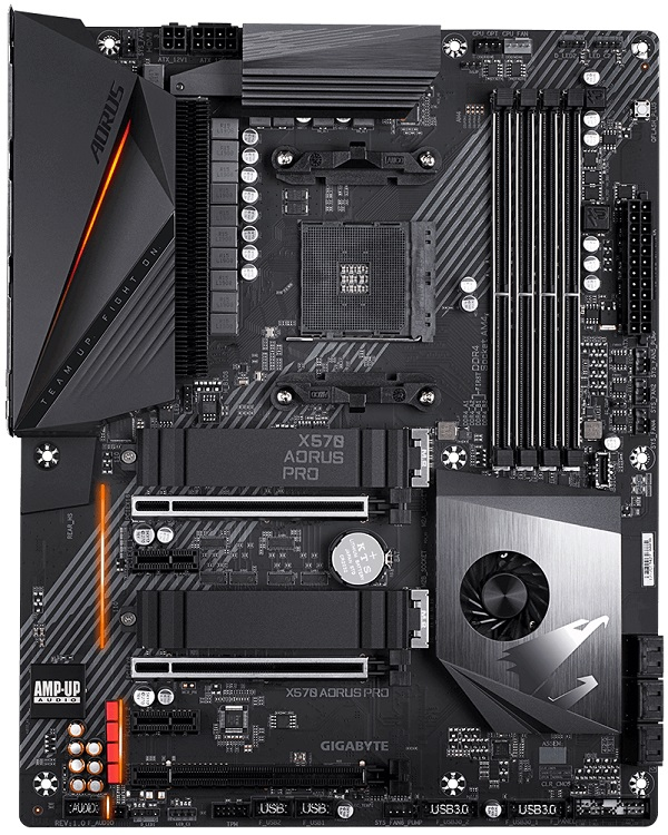 Фото - Материнская плата GIGABYTE X570 AORUS PRO AM4, AMD X570, 4*DDR4, 3*PCI-E16x, PCI-E1x, HDMI, SATAIII+RAID, M.2, GB Lan, USB 3.2, ATX, Retail материнская плата msi h310 a pro s1151 b360 2 ddr4 1 pci e16x 6 pci e1x dvi hdmi sata iii gb lan usb3 1 atx retail