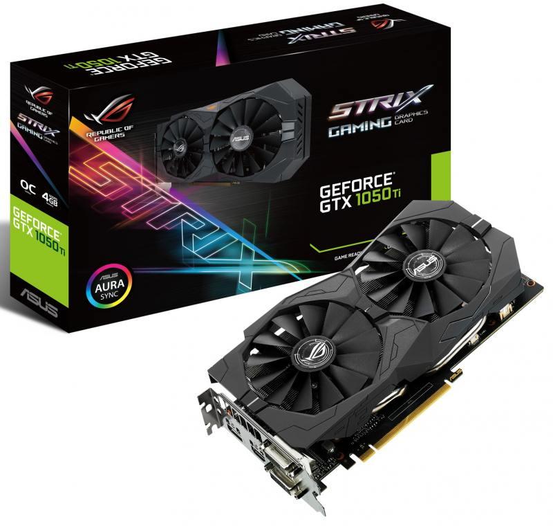 цены Видеокарта ASUS GeForce GTX1050Ti STRIX-GTX1050TI-4G-GAMING 4GB 1290 MHz NVIDIA GTX1050Ti/GDDR5 7008MHz/128bit/PCI-E/2xDVI, HDMI, DP