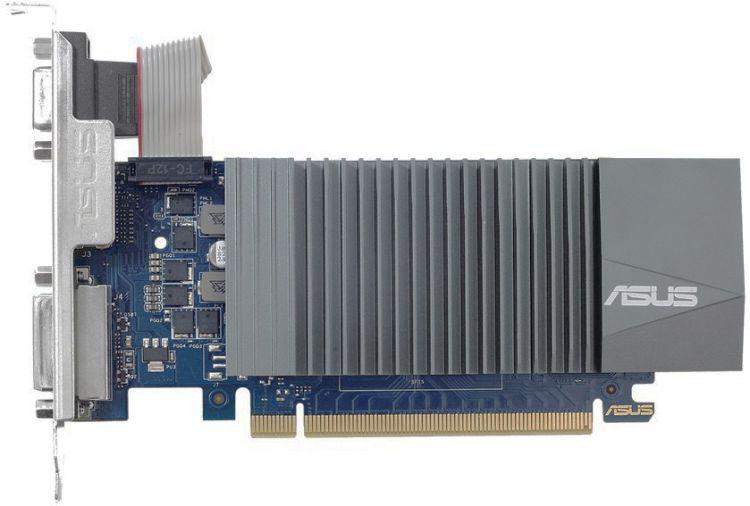 Видеокарта ASUS GeForce GT 710 GT710-SL-2GD5-BRK 2Gb 954 MHz NVIDIA GT710/GDDR5 5012Mhz/64bit/PCI-E 16x/HDMI, DVI-I, VGA (D-Sub) evga 04g p4 2980 kr nvidia geforce gtx 980 4gb gddr5 dvi hdmi 3displayport pci express video card