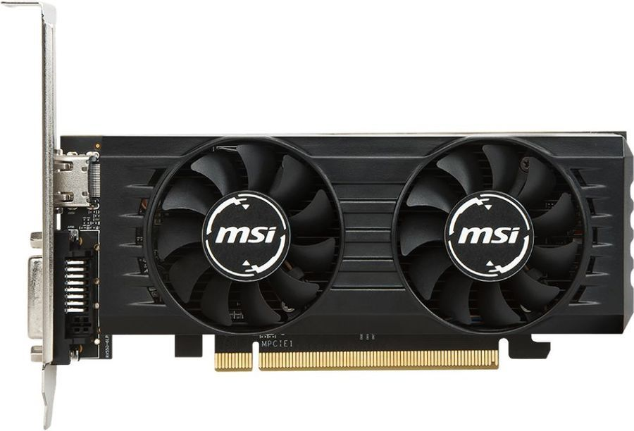 Видеокарта MSI Radeon RX 550 4GT LP OC 4Gb 1203MHz AMD RX550/GDDR5/6000MHz/128 bit/PCI-E/HDMI, DVI-D maxsun ms gt1030 трансформаторы 2g 1227 1468mhz 6000mhz 64bit gddr5 pci e 3 0 независимая игровая графика