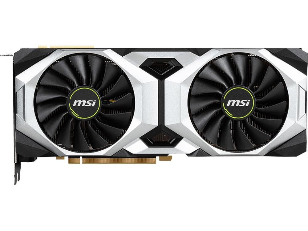 купить Видеокарта MSI GeForce RTX 2080 Ti VENTUS 11G OC 1635 MHz NVIDIA RTX 2080 Ti/GDDR6 14000MHz/352bit/PCI-E/USB Type-C, HDMI, DPx3 по цене 87950 рублей