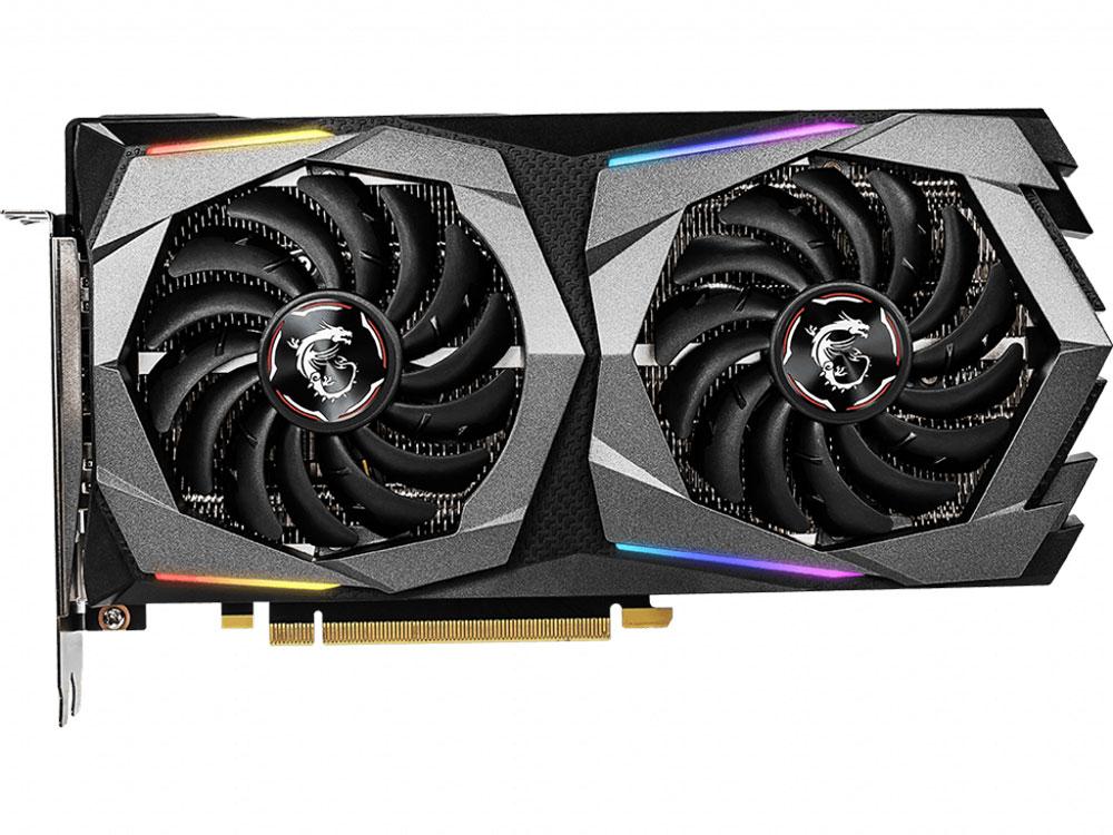 Видеокарта MSI GeForce RTX 2060 GAMING 6G 6Gb 1680 MHz NVIDIA RTX 2060/GDDR6 14000Mhz/192bit/PCI-E/3xDP, HDMI видеокарта msi geforce gtx 1060 3072mb gaming x 3g dvi d hdmi 3xdp ret