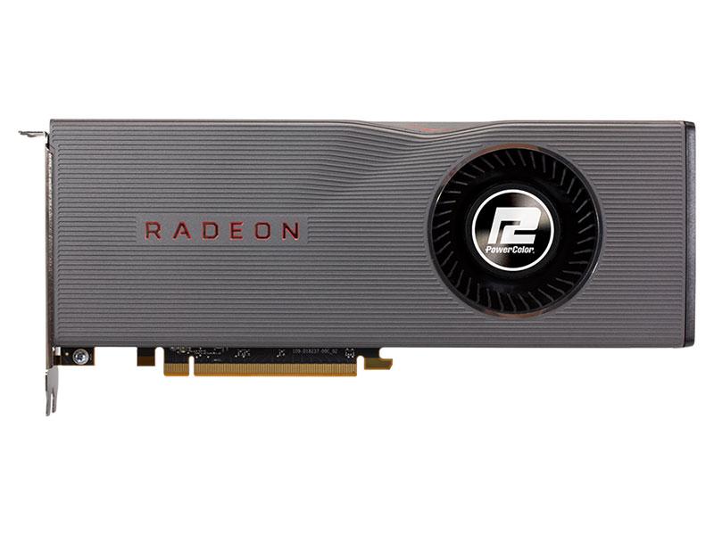 Видеокарта PowerColor Radeon RX 5700XT (AXRX 5700XT 8GBD6-M3DH) 8Gb 1605 MHz AMD RX 5700 XT/GDDR6 14000Mhz/256bit/PCI-E 16x/3xDP, HDMI видеокарта msi radeon rx 5700 xt 1605mhz pci e 4 0 8192mb 14000mhz 256 bit dp hdmi rx 5700 xt 8g