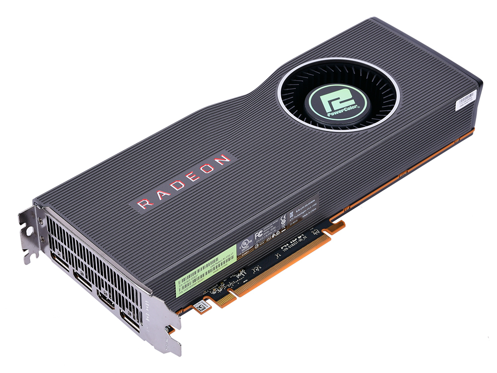 Видеокарта PowerColor Radeon RX 5700XT AXRX 5700XT 8GBD6-M3DH 8Gb 1605 MHz AMD RX 5700 XT/GDDR6 14000Mhz/256bit/PCI-E 16x/3xDP, HDMI
