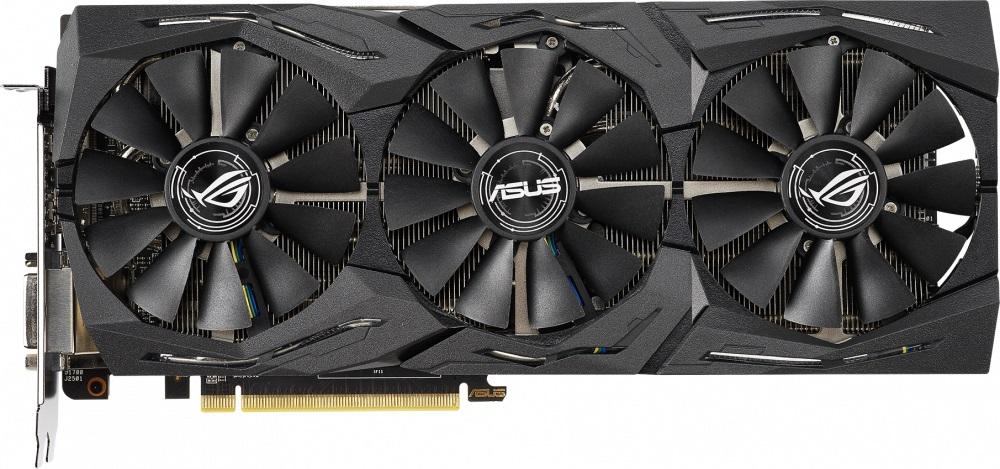 Видеокарта ASUS ROG-STRIX-RX590-8G-GAMING 8Gb 1545 MHz AMD RX 590/GDDR5 8000Mhz/256bit/PCI-E 16x/DP, HDMI, DVI-D