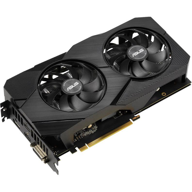Видеокарта ASUS GeForce RTX 2060 DUAL-RTX2060-O6G-EVO 6Gb 1365 MHz NVIDIA RTX 2060/GDDR6 14000Mhz/192bit/PCI-E 16x/DP, HDMI, DVI