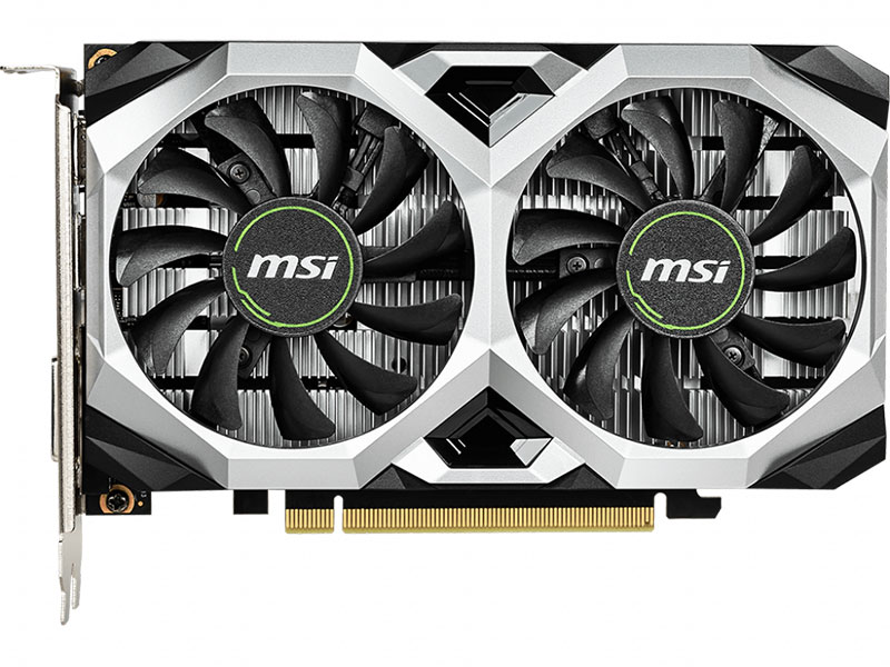 Видеокарта MSI GeForce GTX 1650 VENTUS XS 4G 4Gb 1485 MHz NVIDIA GTX 1650/GDDR5 8000Mhz/128bit/PCI-E 16x/DP, HDMI, DVI