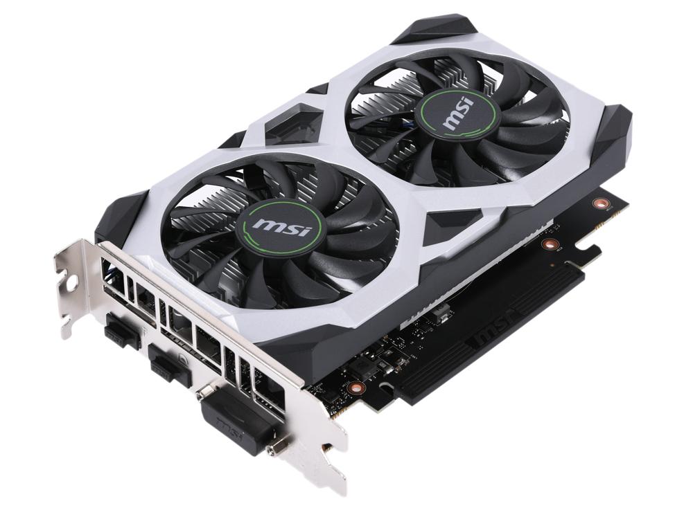 Видеокарта MSI GeForce GTX 1650 VENTUS XS 4G 4Gb 1485 MHz NVIDIA GTX 1650/GDDR5 8000Mhz/128bit/PCI-E 16x/DP, HDMI, DVI видеокарта 1024mb powercolor r7 250 pci e gddr5 128bit dvi hdmi hdcp crt axr7 250 1gbd5 hv4e oc oem
