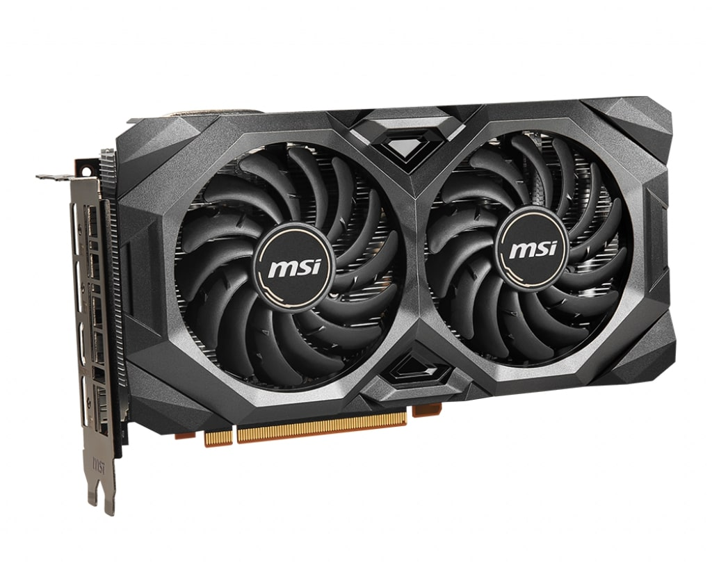 Видеокарта MSI Radeon RX 5700 (RX 5700 MECH) 8Gb 1465 MHz AMD RX 5700/GDDR6 14000Mhz/256bit/PCI-E 16x/DP, HDMI