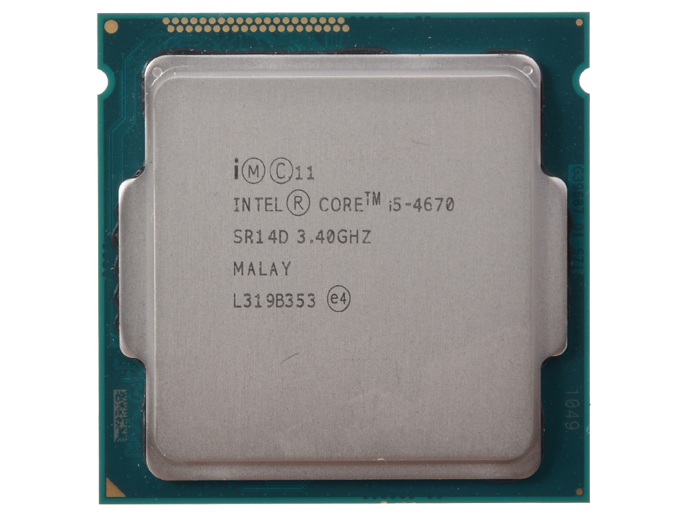 Процессор Intel Core i5-4670 OEM (TPD 84W, 4/4, Base 3.40GHz - Turbo 3.8GHz, 6Mb, LGA1150 (Haswell)) процессор intel core i5 4570 box tpd 84w 4 4 base 3 20ghz turbo 3 6 ghz 6mb lga1150 haswell