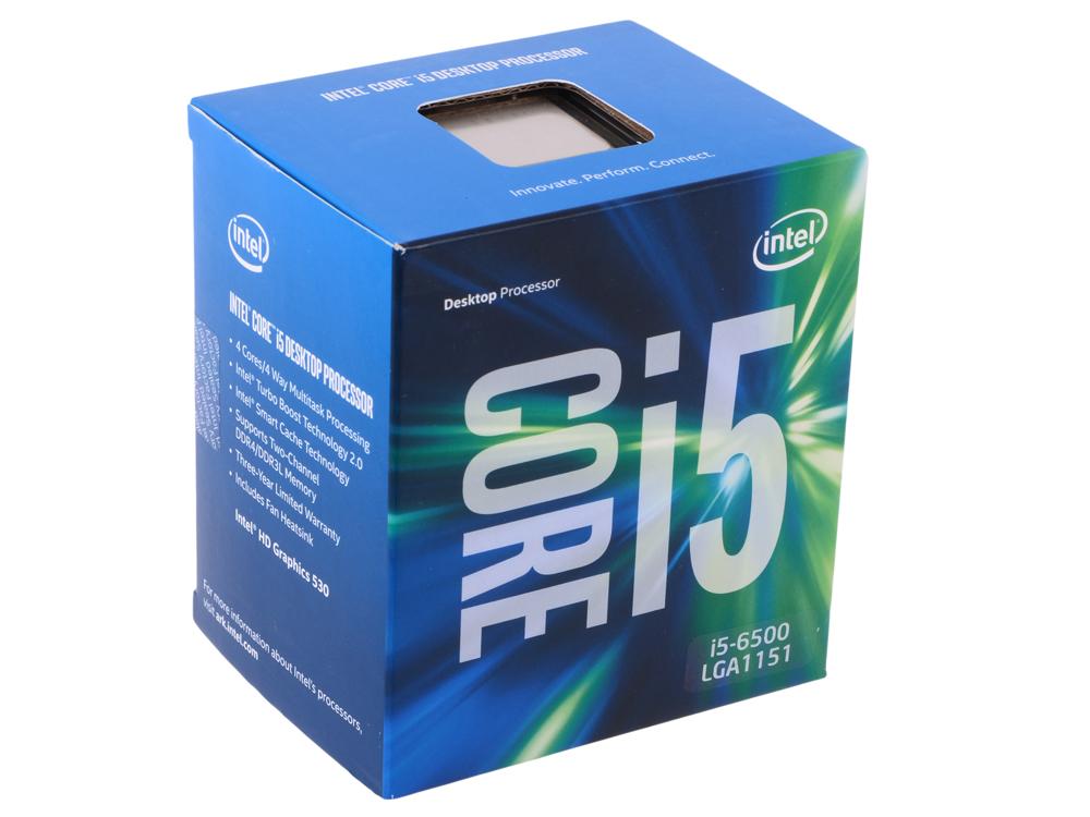 Процессор Intel Core i5-6500 BOX TPD 65W, 4/4, Base 3.2GHz - Turbo 3.6GHz, 6Mb, LGA1151 (Skylake) все цены