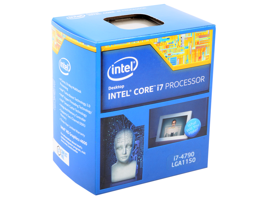 Процессор Intel Core i7-4790 BOX TPD 84W, 4/8, Base 3.60GHz - Turbo 4.00GHz, 8Mb, LGA1150 (Haswell) процессор intel core i5 4570 box tpd 84w 4 4 base 3 20ghz turbo 3 6 ghz 6mb lga1150 haswell