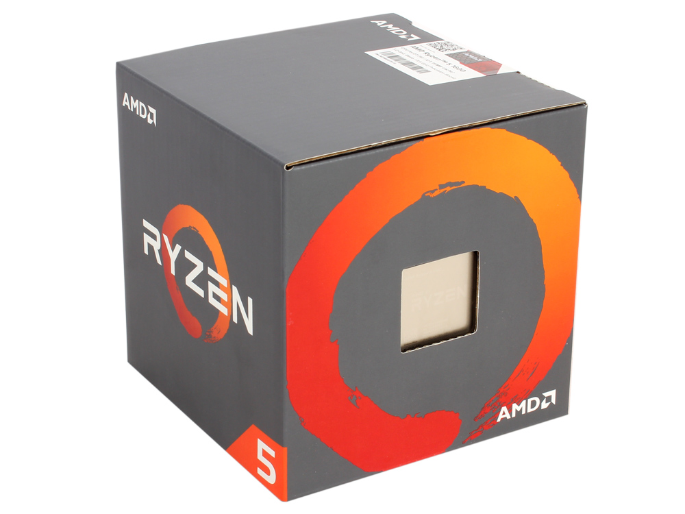 Процессор AMD Ryzen 5 1500X BOX 65W, 4C/8T, 3.7Gh(Max), 18MB(L2-2MB+L3-16MB), AM4 (YD150XBBAEBOX)