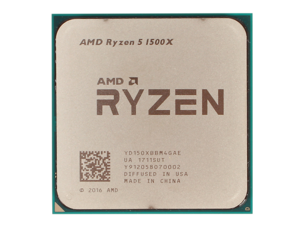Процессор AMD Ryzen 5 1500X OEM 65W, 4C/8T, 3.7Gh(Max), 18MB(L2-2MB+L3-16MB), AM4 (YD150XBBM4GAE)