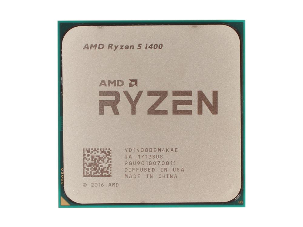 где купить Процессор AMD Ryzen 5 1400 OEM 65W, 4C/8T, 3.4Gh(Max), 10MB(L2-2MB+L3-8MB), AM4 (YD1400BBM4KAE) дешево