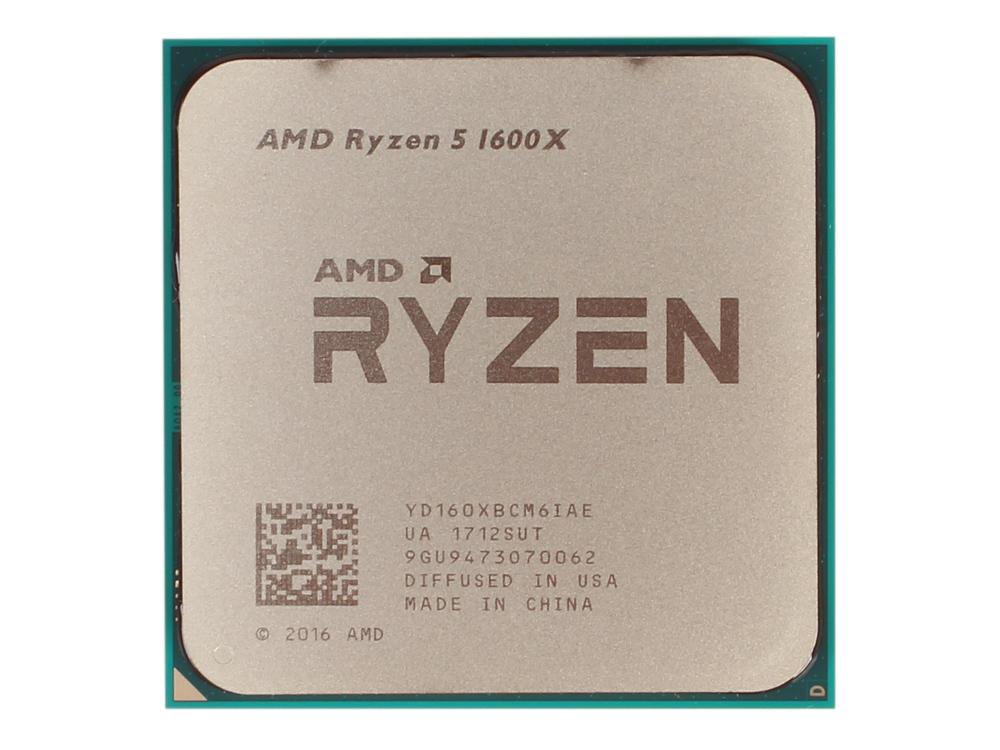 Процессор AMD Ryzen 5 1600X OEM 95W, 6C/12T, 4.0Gh(Max), 19MB(L2-3MB+L3-16MB), AM4 (YD160XBCM6IAE)