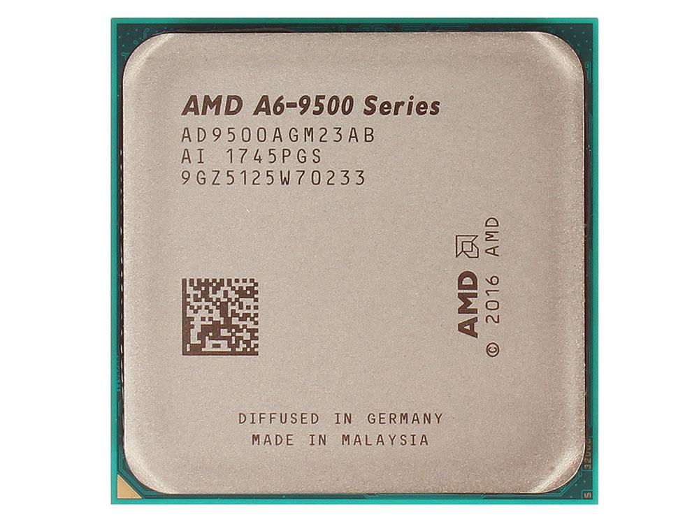 Процессор AMD A6 9500 BOX 65W, 2C/2T, 3.8Gh(Max), 1MB(L2-1MB), AM4 (AD9500AGABBOX) процессор amd a6 7480 oem radeon r5 series 65w 2c 2t 3 8gh max 1mb fm2 ad7480aci23ab