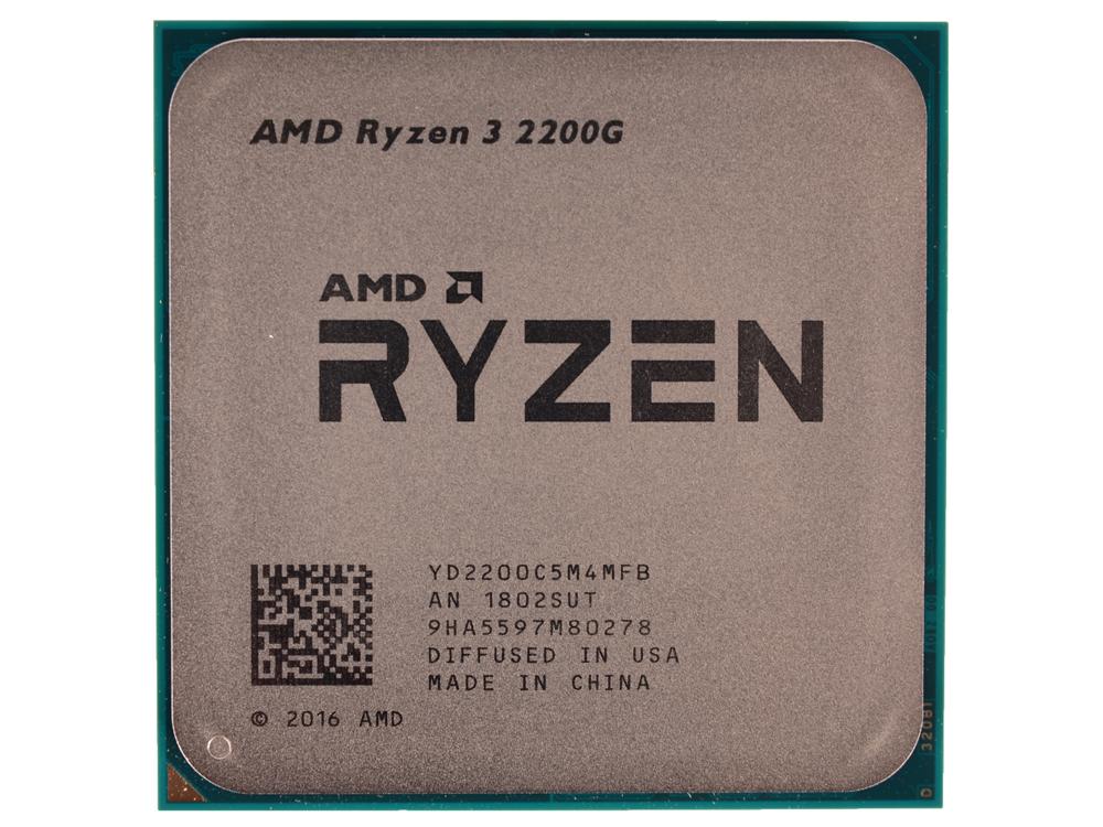 Процессор AMD Ryzen 3 2200G OEM (65W, 4C/4T, 3.7Gh(Max), 6MB(L2+L3), AM4) RX Vega Graphics (YD2200C5M4MFB)