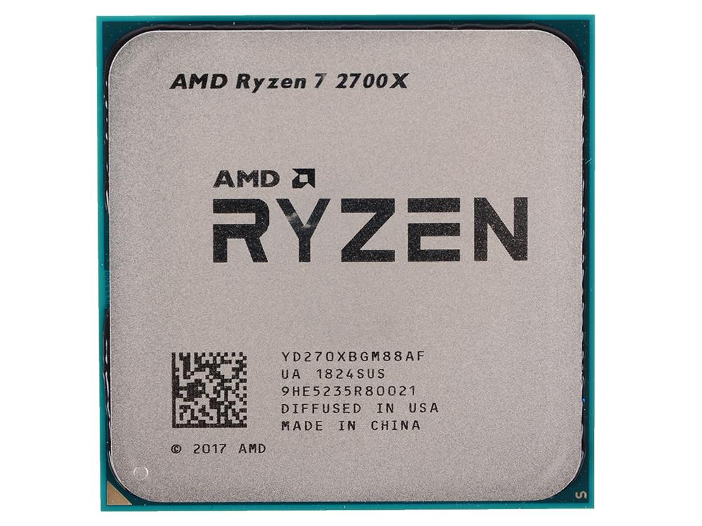 Процессор AMD Ryzen 7 2700X OEM (105W, 8C/16T, 4.35Gh(Max), 20MB(L2+L3), AM4) (YD270XBGM88AF)