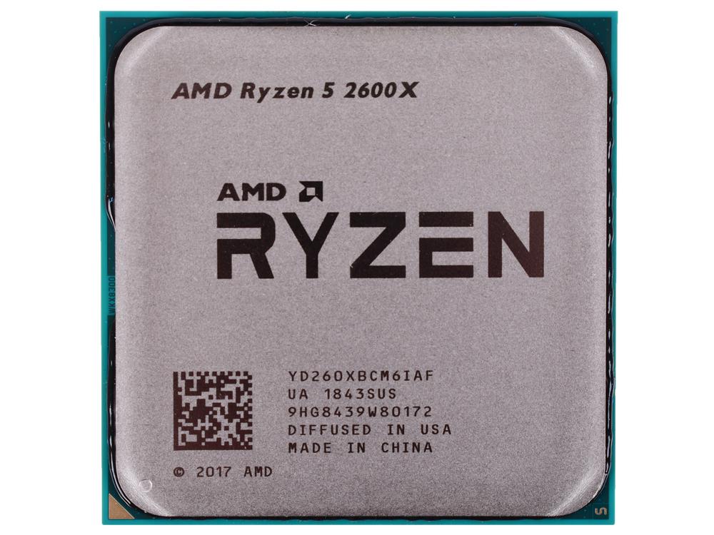 Процессор AMD Ryzen 5 2600X OEM (95W, 6C/12T, 4.25Gh(Max), 19MB(L2+L3), AM4) (YD260XBCM6IAF)