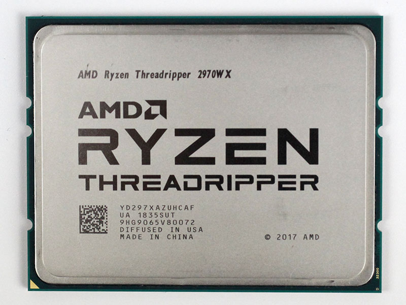 Процессор AMD Ryzen Threadripper 2970WX WOF (BOX без кулера) 250W, 24C/48T, 4.2Gh(Max), 76MB(L2+L3), sTR4 (YD297XAZAFWOF)